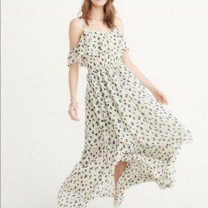Abercrombie & Fitch Cold Shoulder Maxi Dress